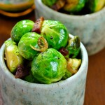 Braised Brussels Sprouts with Bacon and Beer