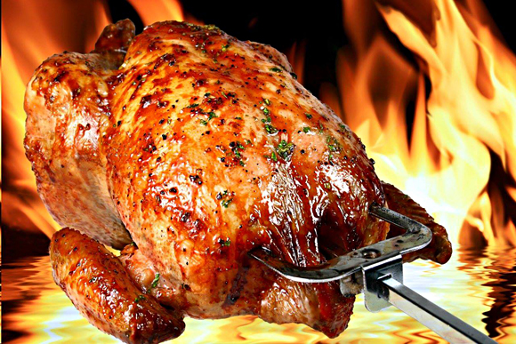 Roast Sticky Chicken-Rotisserie Style Recipe — Dishmaps