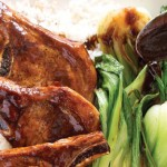 Pork Chops Cola Glazed BokChoy StickyRice