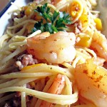Pasta Shrimp Mango Bacon