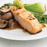 Salmon Asian Bok Choy Mushrooms