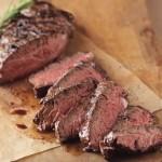 Pan-Grilled Beer-Marinated Hanger Steak