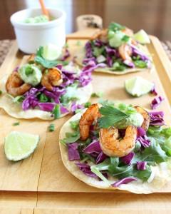 marinateRecipeSpicy Shrimp Tostadas with Jalapeno Avocado Sauce