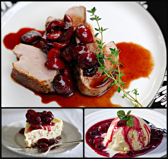 port sauce seared duck breasts with cherry port sauce pork medallions ...