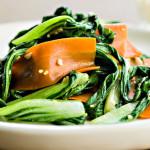 Sesame Bok Choy and Carrot Stir-Fry