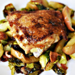 One Pan Chicken Brussel Sprouts Bacon Appl