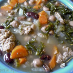 Kale Mixed Bean Turkey Sausage Soup