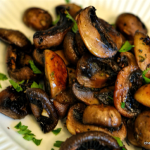 Seared Cremini Mushrooms with garlic & thyme