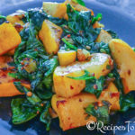 Pan Seared Baby Squash, Spinach