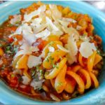 Instant Pot Rotini Noodles with Bolognese sauce