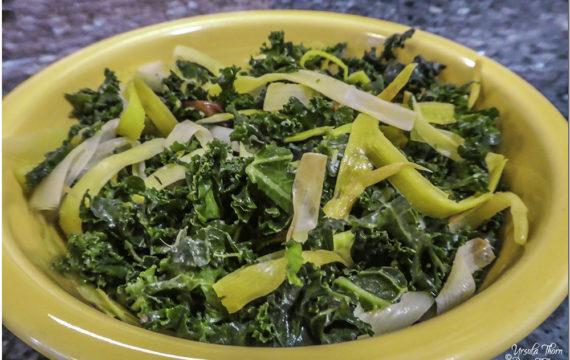 Kale with Caramelized Leeks Stir-fry