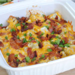 Califlower cheddar cheese bacon mash